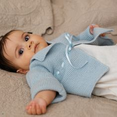 Garter Stitch Matinee Jacket in Debbie Bliss Baby Cashmerino. Discover more Patterns by Debbie Bliss at LoveKnitting. The world's largest range of knitting supplies - we stock patterns, yarn, needles and books from all of your favourite brands. Knitting For Kids, Baby Knitting Patterns, Baby Patterns, Free Knitting, Knitting Books, Baby Pullover, Baby Cardigan, Knitting Supplies, Knitting Projects