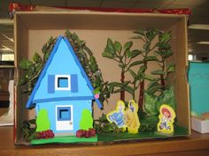 Home scene from Blue - another diorama created by a student from H.H. Poole Middle School in Stafford County, VA.