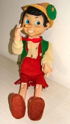 Boneco Pinóquio Da Atma 70s P/ Walt Disney C/ 50cm Raridade - R$ 630,00 no MercadoLivre
