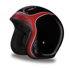 Daytona Cruiser 3/4 Helmet - Pinned Black Cherry