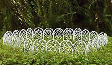 Miniature Dollhouse FAIRY GARDEN Furniture ~ White Wire Scroll Fence ~ NEW