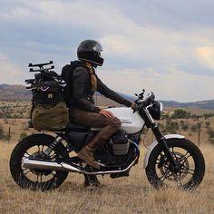 Just a girl & her bike - Moto Guzzi - Motorrad