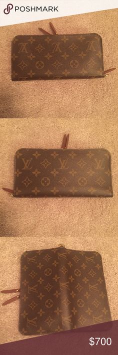 Louis Vuitton Insolite Wallet Monogram Canvas LV Excellent condition! 5⭐️Seller - authentic! Bought at LV store - The Insolite wallet is made from House classic Monogram canvas. double zipper opening, w leather zip pulls, gives access to coins without opening the wallet completely. 8.3 L x4.3 H inches - Zipper & double press stud closure - 2 inside zipped pockets - 2 flat pockets for papers - 12 credit card slots - Monogram canvas w grained leather lining - Golden color metalllic pieces…