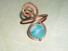 Blue Fire Crackle Agate Copper Ring Handforged Copper Ring Protective Calming Invigorating Ring Blue Snakeskin Ring Under 15 Adjustable Ring by UnikButikJewelry on Etsy