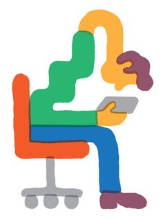 Your iPhone Is Ruining Your Posture — and Your Mood - The New York Times. Illustration by Tim Lahan