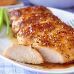 Oven baked honeyed chicken breasts. Chicken breasts with honey,lemon,lime and orange juices cooked in halogen (turbo) oven.Very easy and delicious chicken recipe.Ready in 25 minutes!