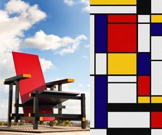 De Stijl, the movement created by Mondrian & van Doesburg has changed contemporary art. Rietveld's Red&Blue has been totally inspired by De Stjil.