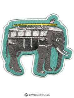 ElephantMobile Embroidered Patch