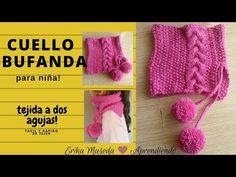 Cuello, bufanda para niña!! tejida a dos agujas facil y rapido de tejer - YouTube Knitted Hats, Crochet Hats, Beanie, Knitting, Scarfs, Baby, Fashion, Crochet Shawl, Long Scarf