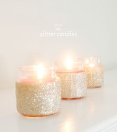 Glitter Candles in a Jar, Perfect for New Year's · Candle Making | CraftGossip.com