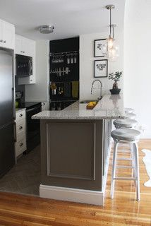 A Boston Kitchen and Bath Go From Dreary to Darling See how a $25,000 renovation budget gave 2 outdated spaces in a small Massachusetts apartment a brand-new look