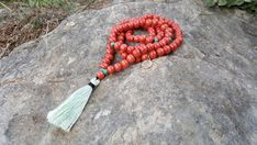 Your place to buy and sell all things handmade Spiritual Jewelry, Coral, Turquoise, Yoga Meditation, Tassel Necklace, Tassels, Mint, Beads, Handmade
