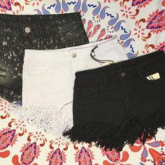 aaaaaaand they're back! Fringe shorts and splatter paint shorts in store now!  FREE SHIPPING  Sanitystyle.com 440.893.9279 sales@sanitystyle.com  to order or shop in store    #sanitystyle #sanitychagrinfalls #shoplocal #chagrinfalls #shopchagrinfalls #boutique #freeshipping #cleveland #clevelandfashion #clevelandstyle #style #shop #cle #thisiscle #love #selloninsta #instasale #fashionpost #beautiful #picoftheday #shopping #shopaholic #retailtherapy #instaboutique #spring #springstyle…