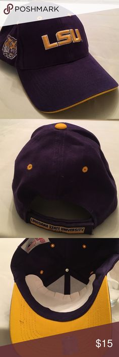 LSU Tigers Purple Adjustable Game hat NWOT,  LSU Tigers Adjustable game Hat. HMI headwear, officially licensed collegiate products, one size, new without tag HMI Headwear Accessories Hats