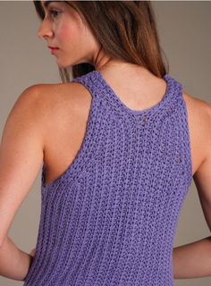 Knit Tank Top (Free Knitting Pattern) - Craftfoxes