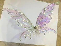 Diy Fairy Wings, Diy Wings, Fairy Wings Costume, Fairy Costume Diy, Fairy Halloween Costumes, Diy Halloween, Diy Butterfly, Butterfly Wings, How To Make Butterfly