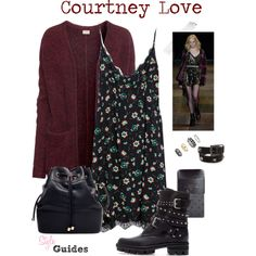 Look 161 - Courtney Love style by style-guides. Grunge Outfits, Grunge Fashion, Look Fashion, 90s Fashion, Trendy Fashion, Fashion Outfits, Womens Fashion, 90s Grunge, Witchy Outfit
