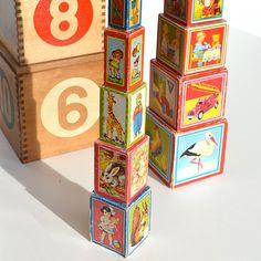 vintage blocks for display