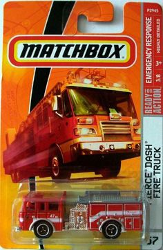 Matchbox 2010 Pierce Dash Fire Truck #57/100 Paramedic, Fire Department…
