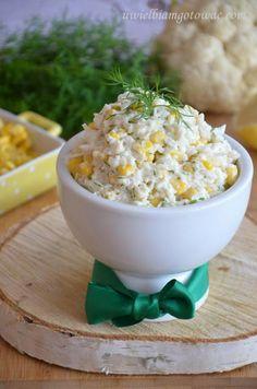 Surówka z surowego kalafiora i kukurydzy
