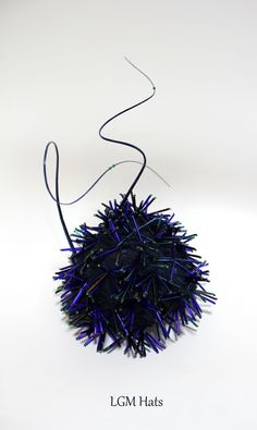 Midnight blue showstopper of a hat from LGM Hats #millinery #irish #fashion #couture