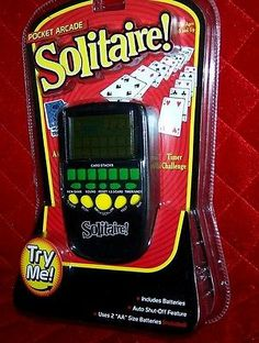 Solitaire Pocket Arcade Electronic Handheld Card Games NIB Christmas Gift