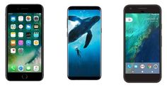 Samsung Galaxy S8, S8+ vs iPhone 7 series vs Google Pixel