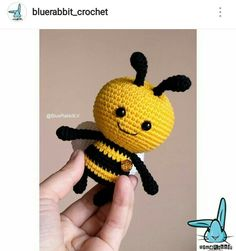 Crochet Bee, Easy Crochet, Crochet Hooks, Slip Stitch, Chain Stitch, Handmade Soft Toys, Newborn Toys, Crotchet Patterns, Operation Christmas Child