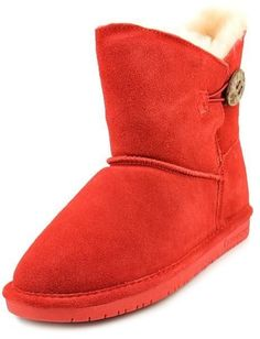 Bearpaw Rosie Womens Red Regular Suede Winter Boots