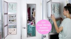 DIY Over Door Jewelry Display & Mirror!