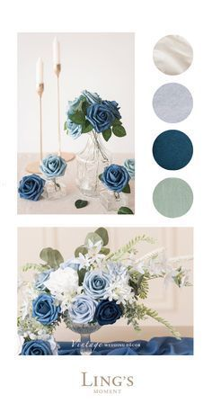 Sage Green Wedding, Blue Wedding Flowers, Lilac Wedding, July Wedding Colors, Navy Wedding Themes, Spring Wedding Colors Blue, Wedding Ideas Blue, Navy Blue Wedding Theme, Palette Verte