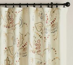 Flora Embroidered Drape #potterybarn