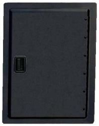 Fire Magic 12 Inch x 18 Inch Legacy Series Powder Coated Vertical Single Access Door 23918 & Fire Magic - Legacy Series Black Powder Coated 14