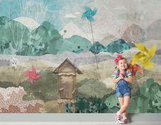 Tapeta dla dzieci/ wallpaper for kids 'Windhill' by Double Room