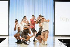 the guys pose on the runway for the Debutante Fashion Show