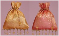 Chic Wedding Favors Bejeweled Indian Gift Bags $1.75