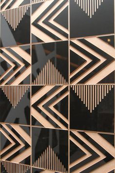 TRIBAL from the Brasiliana collection designed by Renata Rubim with Oca Brasil. A series of wooden tiles made of eucalipt or Valchromat in various color ways, each with their own personality.