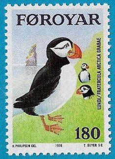 + 1978 Faroe Islands Kingdom of Denmark Puffins Sea Birds #37 A12 180o MNH