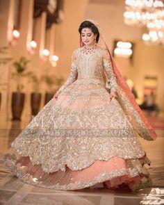 new Pakistani bridal dress in light colours 2018-19  #bridal #pakistanibridal #bridaldresses #fashion #designer
