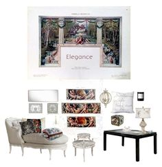 """""""Elegant Design"""" by sue-mes ❤ liked on Polyvore featuring interior, interiors, interior design, home, home decor, interior decorating, Angelo, Furniture of America, Surya and Gubi"""