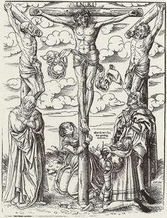 Cranach d. J., Lucas: Kreuzigung mit Stiftern
