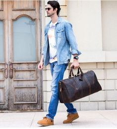 genuine leather duffle bag for men weekend bag travel bag Suitcase travel bag perfect for any vacation, weekend and travel plans ! Find all your luggage at the BEST Price on Mens Travel Bag, Duffle Bag Travel, Duffel Bag, Weekender, Travel Bags, Leather Suitcase, Leather Duffle Bag, Luggage Store, Luggage Bags