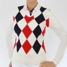 Green Lamb - Argyle V neck sweater