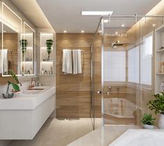 Laundry Room Bathroom, Bathroom Plants, Bathroom Kids, Ensuite Bathrooms, Modern Master Bathroom, Simple Bathroom, Bad Inspiration, Bathroom Inspiration, Bathroom Pictures