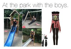 """""""At the park with the boys."""" by five-sos-imagines ❤ liked on Polyvore featuring Topshop, R13, Vans, Incase and NARS Cosmetics"""
