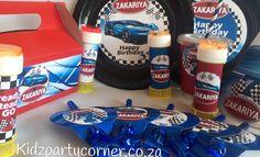 Bugatti theme party supplies,decor and favours www.kidzpartycorner.co.za