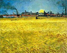 Vincent van Gogh - Sunset: Wheat Fields Near Arles