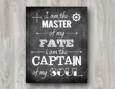 """""""I am the master of my fate I am the captain of my soul."""" Invictus by William Ernest Henly printable typography quote. Daily Quotes, Book Quotes, Motivational Thoughts, Inspirational Quotes, Invictus Poem, Soul Tattoo, Virginia Is For Lovers, Soul Searching, Typography Quotes"""