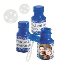 Blue+Custom+Photo+Hexagon+Bubble+Bottles+-+OrientalTrading.com 48 for $9.98