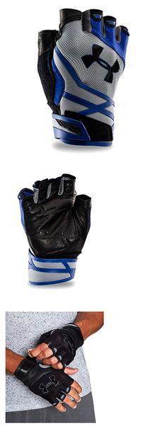Gloves Straps and Hooks 179820: Under Armour Men S Resistor Half-Finger Training Gloves, Steel Royal, Small -> BUY IT NOW ONLY: $98.58 on eBay!